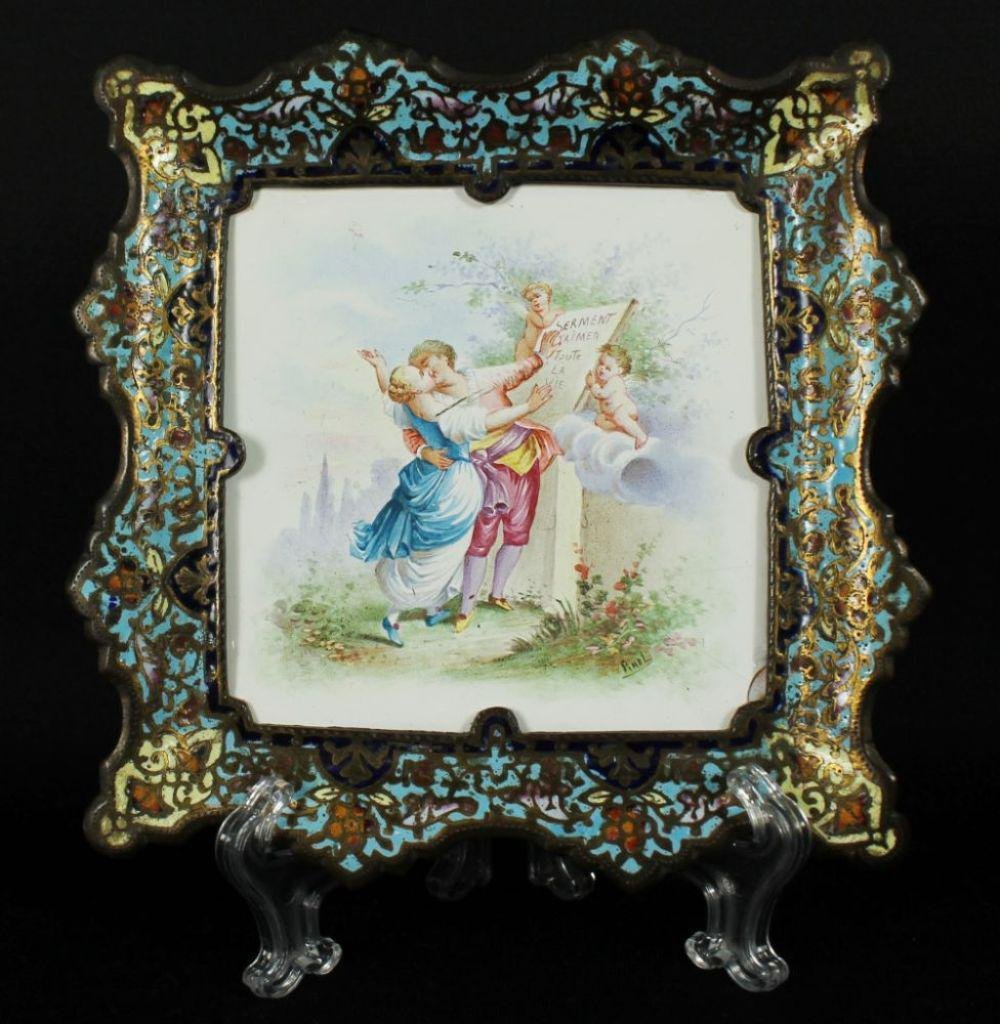 French Enamel Ring Tray C 1890