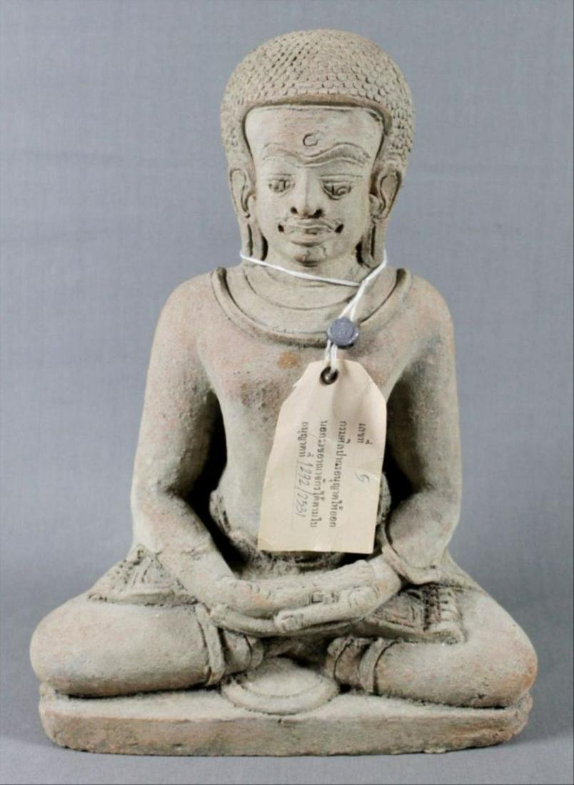 Southeast Asian Seated Stone Figure Of Buddha