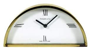 Tiffany & Co Bronze Desk Clock