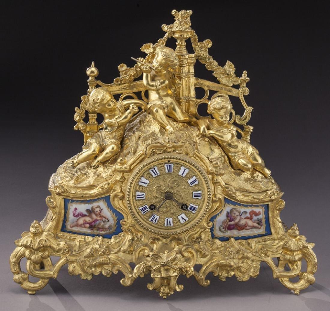 French Ormolu Cased Mantel Clock