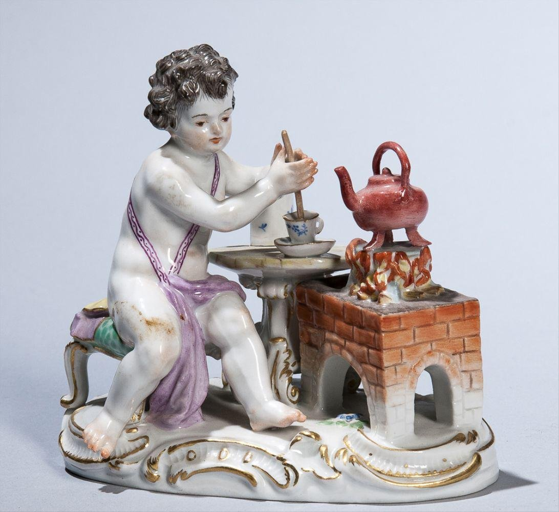 19Th Century Meissen Figure Of Teamaker