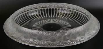 Lalique Crystal Marguerite Wide Centerpiece Bowl