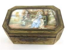 Late 19Th C. French Fine Gilt Rectangular Box