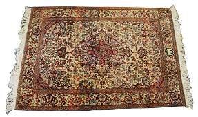 Indo-Kashan Throw Rug