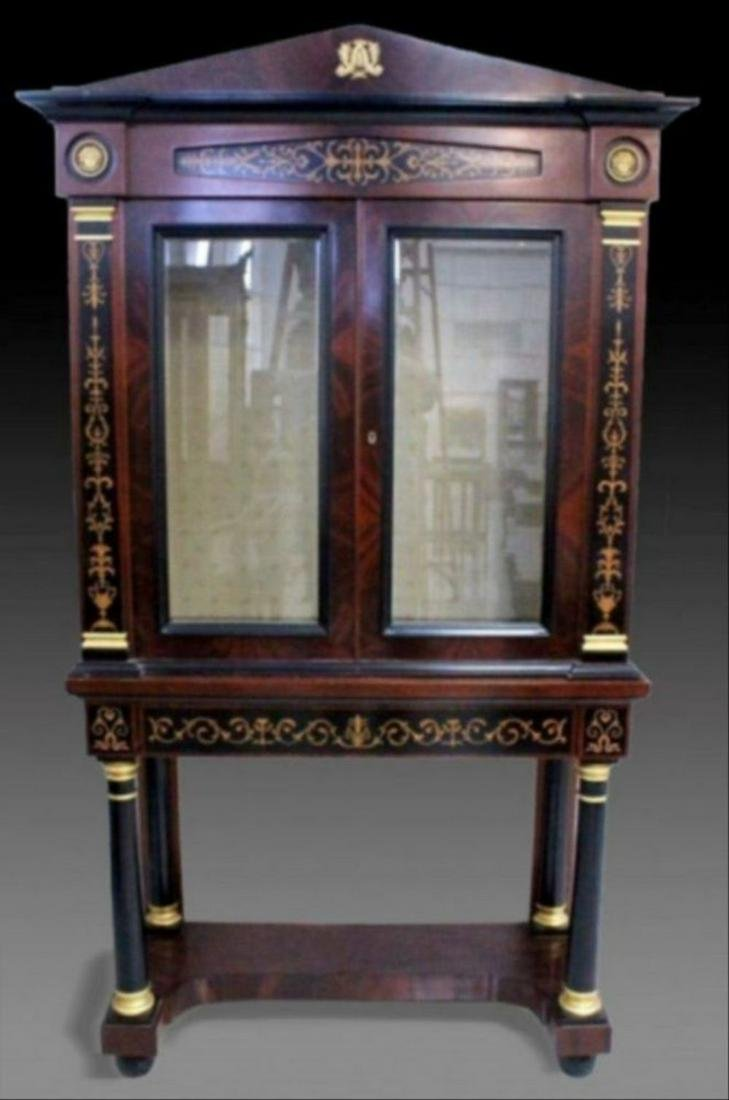 Magnificent Louis Xv Style Cabinet On Stand