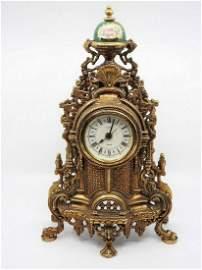 Antique Bronze Mantle Clock