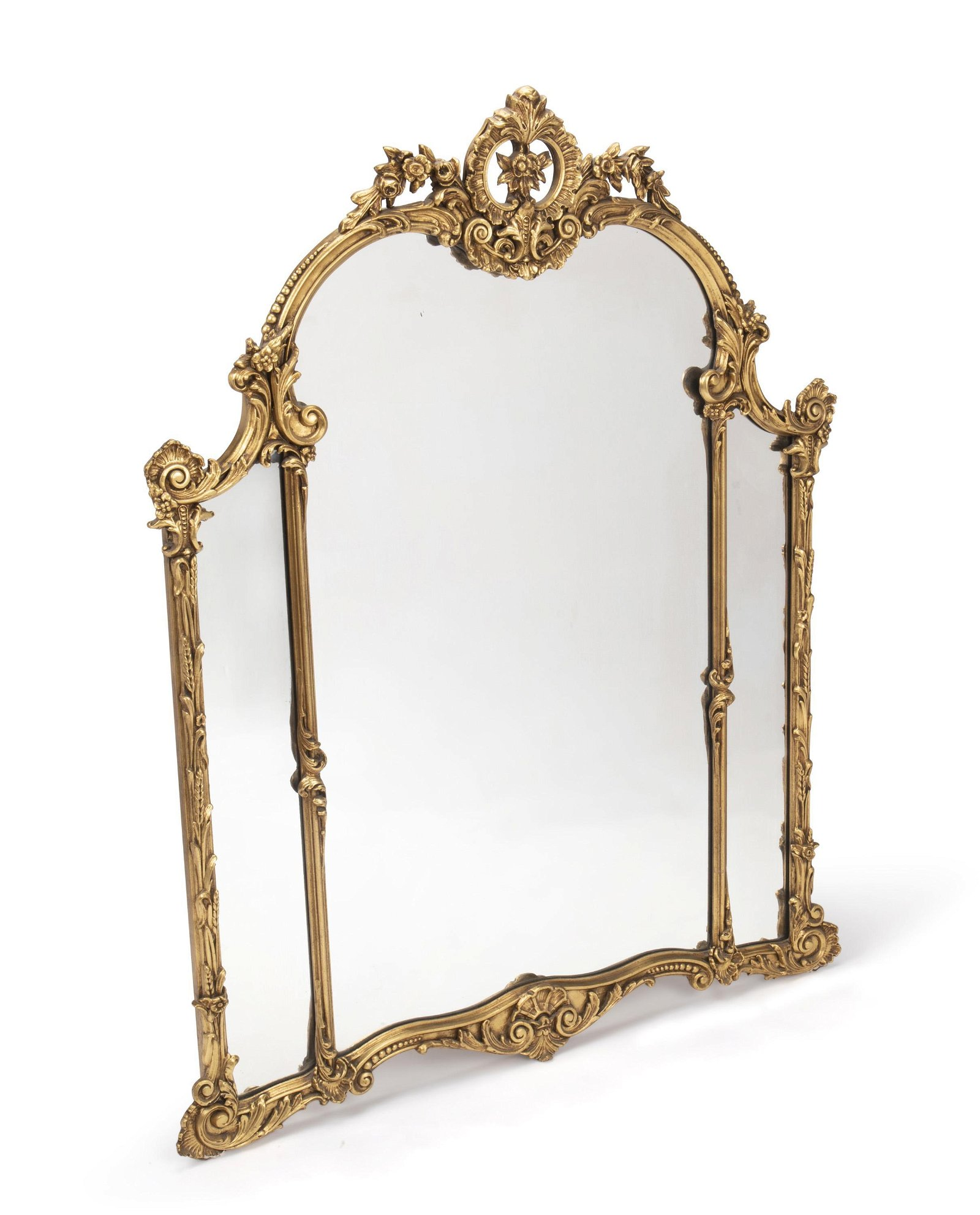 A Carved Wood, Gesso, And Gilt Wall Mirror