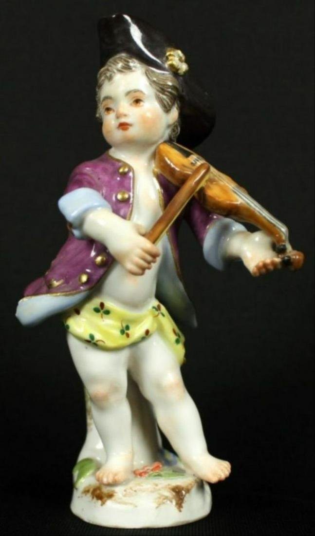 Meissen Figure Of Violin Player