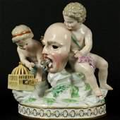 19Th C. Meissen Porcelain Grouping