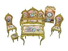 Magnificent Viennese Enamel And Porcelain Miniature