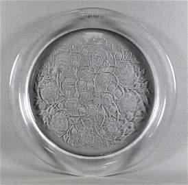 """Antique 15 1/4"""" 39cm Large Lalique Floral Motif Crystal"""