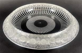 Lalique Molded Glass Marguerite Center Bowl