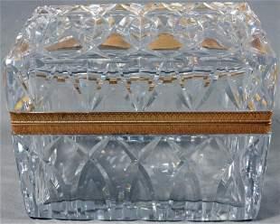 French Glass And Brass Dresser Box