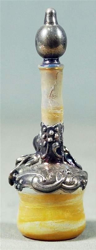 Miniature Gilt Daum Nancy Bottle