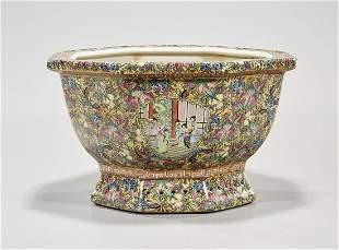 Chinese Enameled Porcelain Jardiniere
