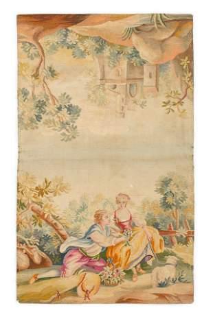 Antique Tapestry 35 X 21 Cm