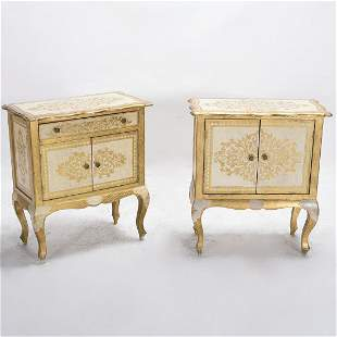 Pair Of Italian Louis Xvi Style Gilt Decorated