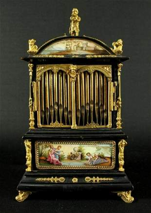 19Th C. Austrian Viennese Vienna Enamel Jewelery Box