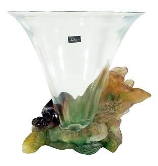 Daum Pate De Verre Vase Small Chip On Rim
