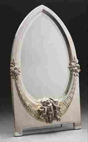 Sterling Silver Plated Table Mirror.