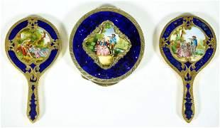 3 Piece Royal Vienna Style Painted Dresser Set