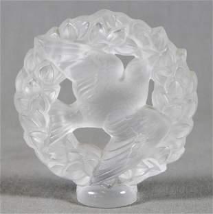 Lalique Glass Bird Pendant