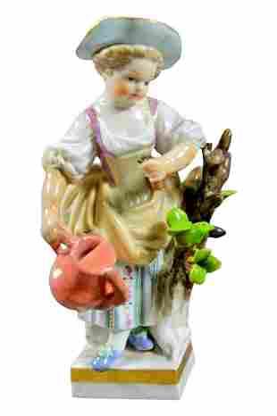 19Th C. Meissen Figure Of Woman