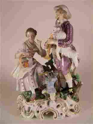 A Very Rare Meissen Marcolini Period Porcelain Group Of