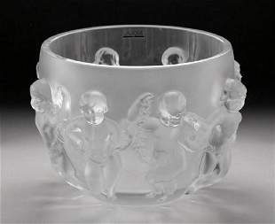 Lalique Luxembourg Chrub Angel Bowl Crystal France