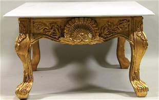 Pair Of Marble Top End Tables
