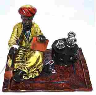 Vienna Bronze. Arab On Oriental Carpet