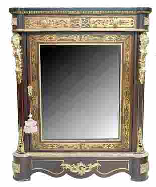 French Marquetry And Bronze Mounted Display