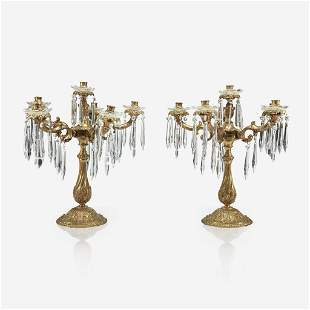 A Large Pair Of Louis Xv Style Gilt-Bronze And Cut