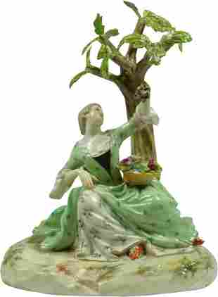Late 19Th Century Meissen Porcelain Figure