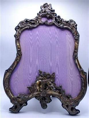 American Sterling Figural Repousse Frame