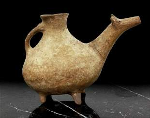 An Ancient Pottery Animal Rhyton, Possibly Iran, Circa