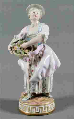 Meissen Porcelain Figure Of Maiden Late 19Th Century