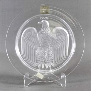 "Antique Lalique Collector Plate"" American Eagle-1976"""