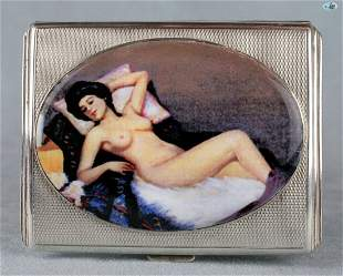 Antique British Erotic 1920s Nude Sleeping Lady Sterlin