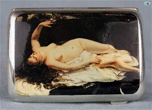 Antique British Erotic 1920s Nude Sleeping Lady with Ea