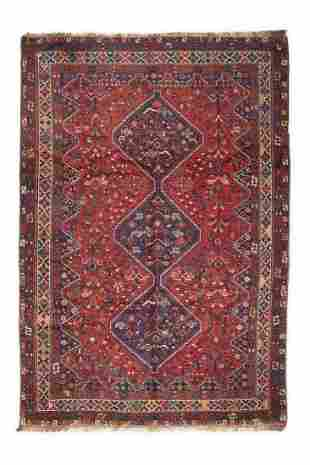 Large Antique Hand-Knotted Persian Shiraz Qashqai Triba