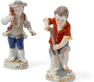 Two Meissen Porcelain Figures, 20th Century
