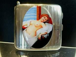 Antique British Erotic 1912s Nude Lady Reclining Sterli