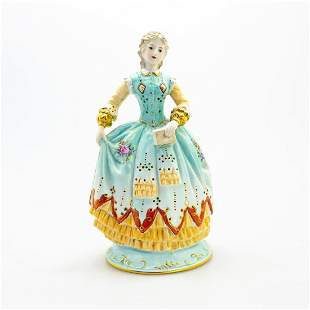 Large Meissen Figurine, Lady With Book