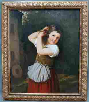 Framed O/C Of A Young Girl