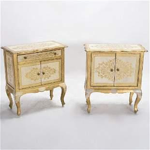 Pair Of Italian Louis Xvi Style Gilt Decorated