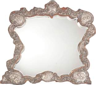 An English Sterling Silver Repousse Dressing Table