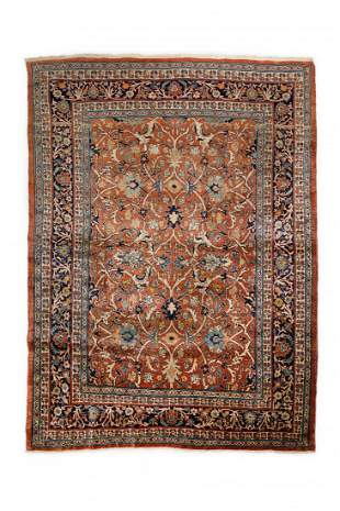 Antique Silk Tabriz 201 X 120 cm fine carpet