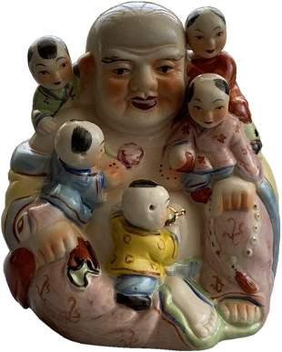 Vintage Buddha Statue Children Lucky Fertility