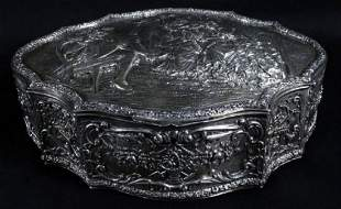 Contiental Sterling Silver Covered Box